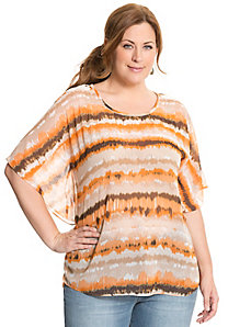 Tie dye drama top by LANE BRYANT