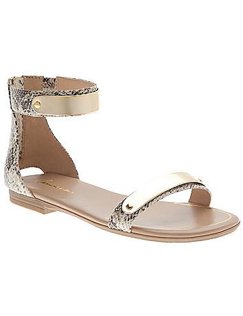 Ankle strap snake sandal