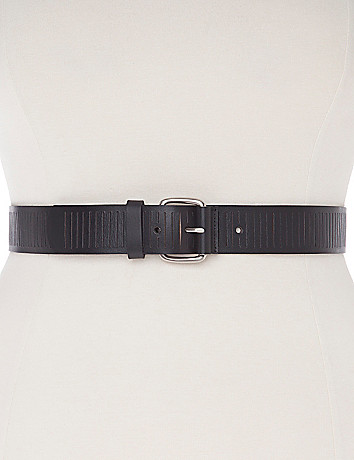 Slatted leather belt
