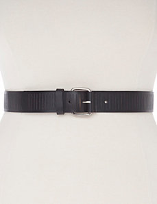 Slitted leather belt