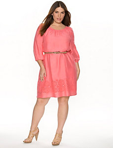 Eyelet peasant dress