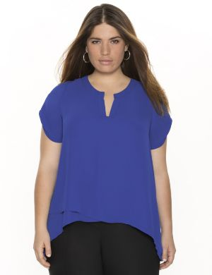 Tunic with asymmetric hem