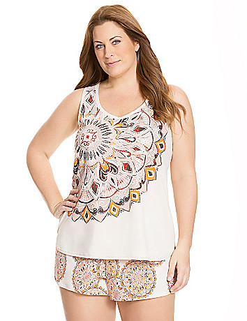 Sequined Boho sleep tank