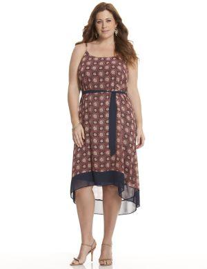 High-low chiffon dress