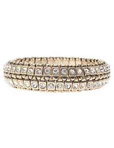 Antiqued cubic zirconium bracelet by Lane Bryant