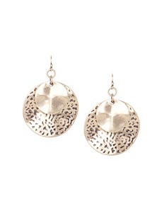 Double disc drop earrings by Lane Bryant