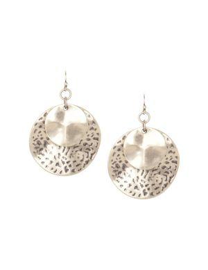 Double disc drop earrings by Lane Bryant