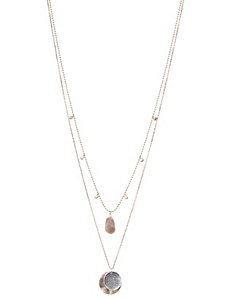 Nested stone & disc necklace by Lane Bryant