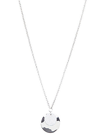 Double disc pendant necklace by Lane Bryant