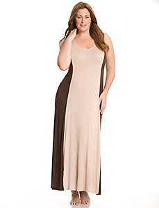 Tru to You colorblock maxi lounger with lace