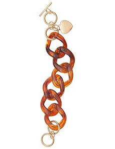 Tortoiseshell link bracelet by Lane Bryant