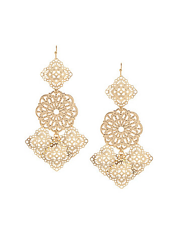 Filigree chandelier earrings by Lane Bryant