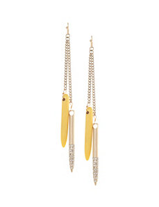 Lane Collection double spike earrings