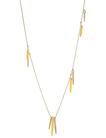 Lane Collection yellow spike necklace