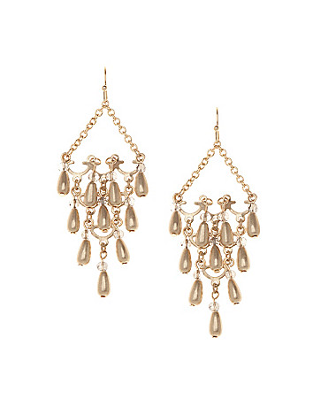 Beaded chandelier earrings by Lane Bryant