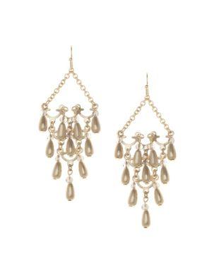 Beaded chandelier earrings by Lane Bryant
