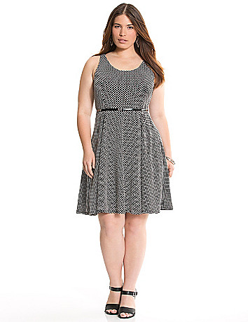 Full Figure Polka Dot Dress