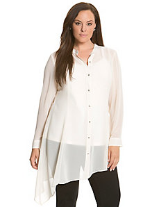 6th & Lane asymmetric sheer tunic