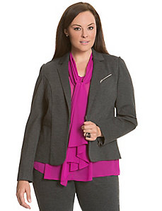 6th & Lane zipped ponte blazer
