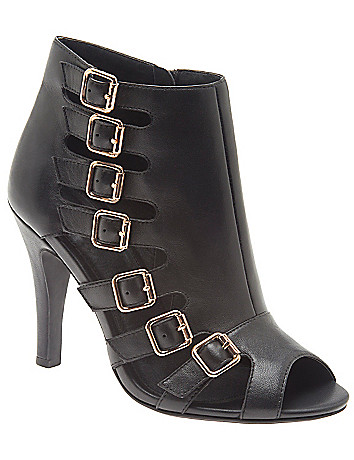 Fabiana leather buckled bootie