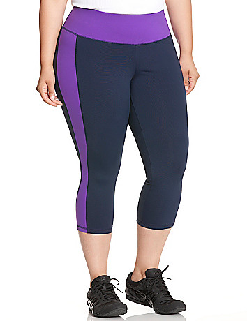 TruDry colorblock capri legging