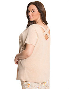 Cross back sleep tee
