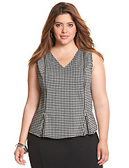 Houndstooth zipped ponte shell