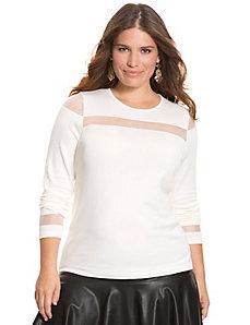 Illusion pullover sweater