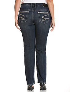 Embellished straight leg jean by Seven7
