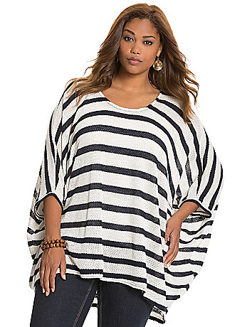 Striped cocoon pullover