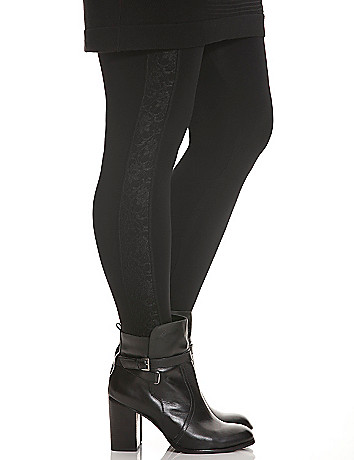 Lace side stripe legging