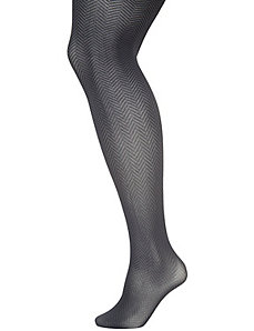 Two-tone herringbone tights