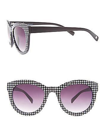 Houndstooth wayfarer sunglasses