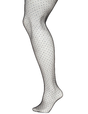 Dotted diamond pattern tights