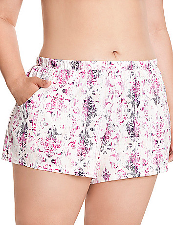 Tapestry print sleep short