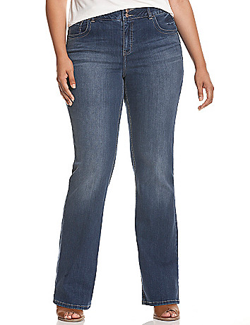 Bootcut jean with Tighter Tummy Technology
