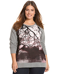 Tree print sweatshirt