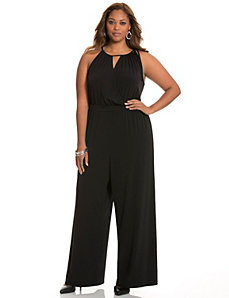 Surplice halter jumpsuit