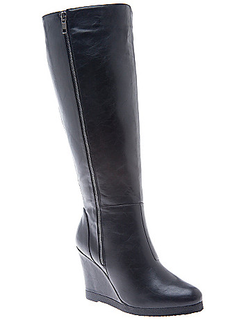 Wedge dress boot