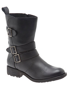 Carli leather moto ankle boot