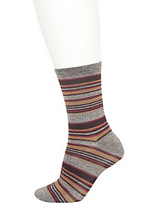 Mélange striped crew socks 2-pack