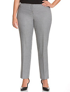 Straight fit houndstooth straight leg pant