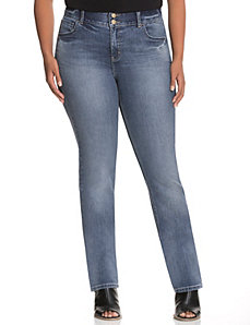 Straight fit straight leg jean with Tighter Tummy Technology