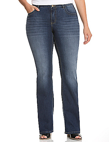Straight fit bootcut jean with Tighter Tummy Technology