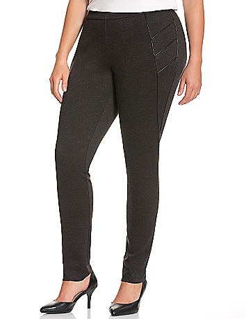 Slimming twill legging with piping