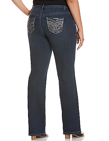 Embellished bootcut jean