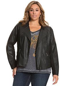 Seamed moto jacket