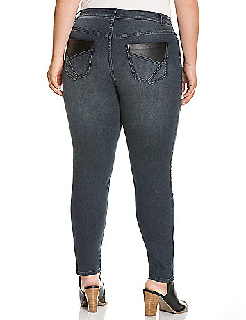 Genius Fit™ seamed moto skinny jean