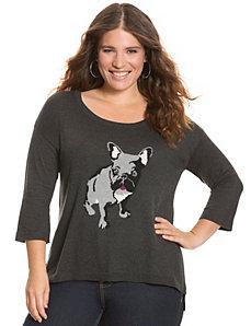 Bulldog intarsia sweater
