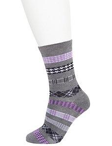 Printed crew socks 2-pack